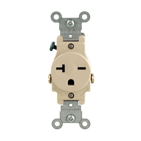 leviton  amp commercial grade double pole single outlet