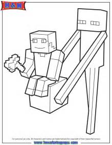 Minecraft Block Enderman Coloring Pages