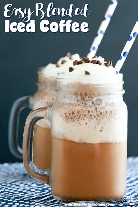 How do you make iced coffee? Easy Blended Iced Coffee | Cold Coffee Recipes | Simply Being Mommy