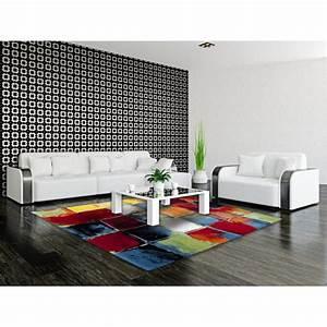 Tapis Salon Design : tapis moderne et multicolore de salon bahia ~ Melissatoandfro.com Idées de Décoration
