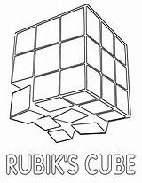 Coloring Cube Popular Rubik sketch template