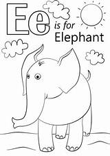 Letter Coloring Pages Getcolorings Elep sketch template