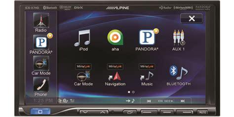 mirrorlink app for android alpine ics x7hd mirrorlink 2din unit receiver deck