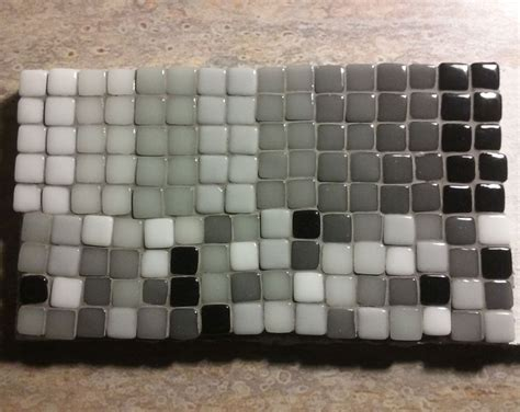 grouting mosaic tile black and white photorealistic mosaic how to mosaic