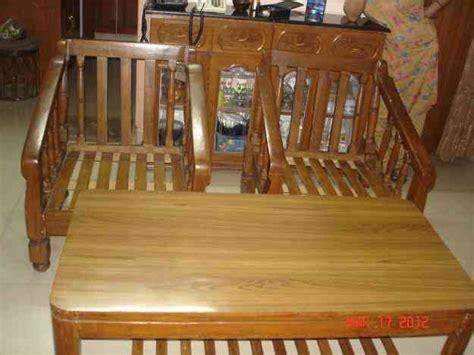 seater teak wood sofa  cushion