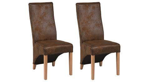 canapé d angle livraison gratuite lot de 2 chaises en microfibre marron aspect cuir vieilli