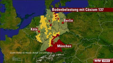 Pilze Radioaktivität Karte