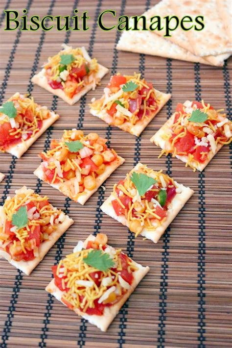 canape toppings recipe of biscuit canapes how to biscuit canapes