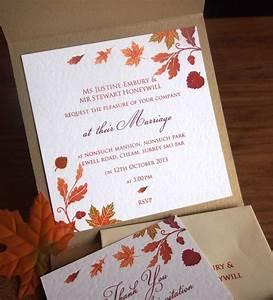 autumn wedding invitation inside the pocket wedding With wedding invitations with inside pocket