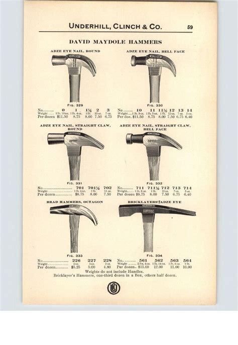 paper ad  sided david maydole hammer adze eye