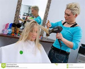 Hair stylist at work stock photo. Image of rollers ...