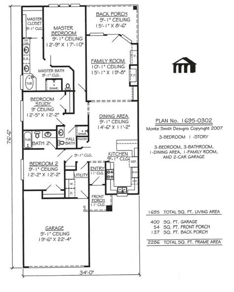 plan of house small house plans with garage luxury one m ranch