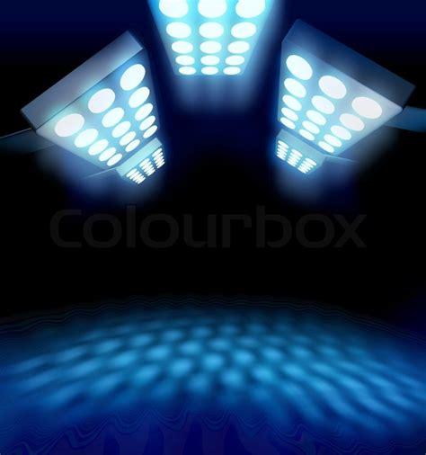 Stadium Style Premiere Lights Leuchtende Blaue Fläche Auf