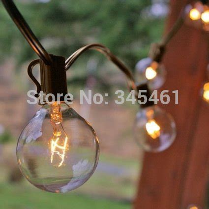 decro 25 ft clear globe g40 string lights set with 25 g40
