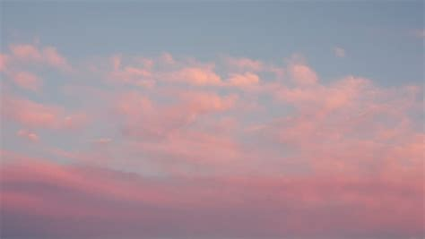 Timelapse of Pink Clouds Drifting Stock Footage Video (100