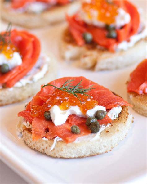 items canape caviar smoked salmon canapes tatyanas everyday food