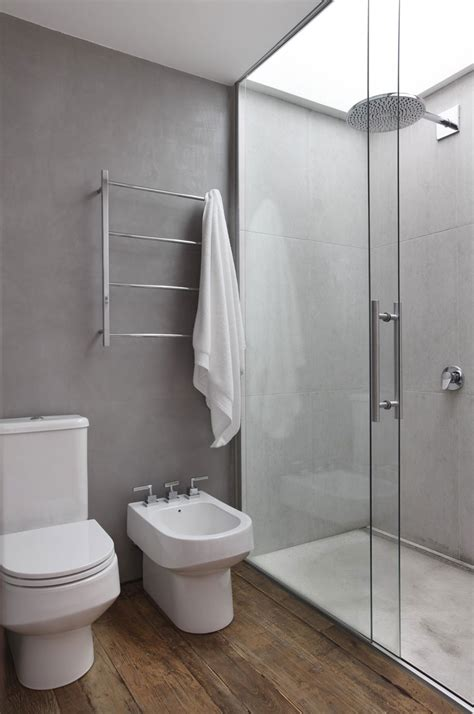Awesome Bathroom With Shower And Glass Wall Interior