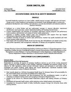 ehs manager resume exles occupational health and safety manager resume template premium resume sles exle
