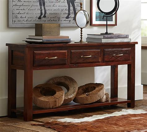 pottery barn sofa table the design our new reclaimed wood collection