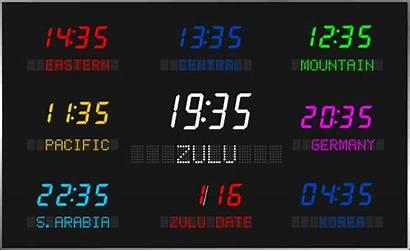 Zone Led Digital Display Clocks Zones Multi