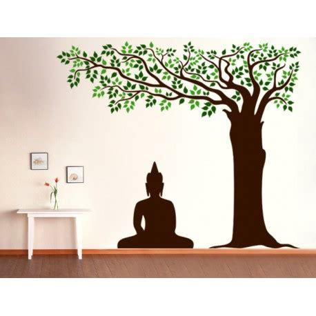 home interior mirror buddha tree wall decal kcwalldecals buy wall