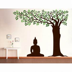 Buddha Under Tree Wall Decal - Kcwalldecals: Buy wall