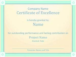Employee Certificate Templates Free Employee Award Certificate Of Excellence Template Employee