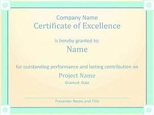 Employee Certificate Templates Free Employee Award Certificate Of Excellence Template Employee