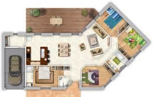 Plan Maison Plain Pied 4 Chambres Avec Suite Parentale by Maison Contemporaine Plans Maisons