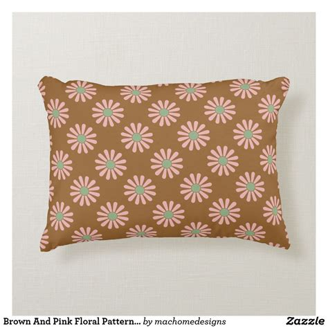 Choose from hundreds of free nature backgrounds. Brown And Pink Floral Pattern Throw Pillow   Patterned ...