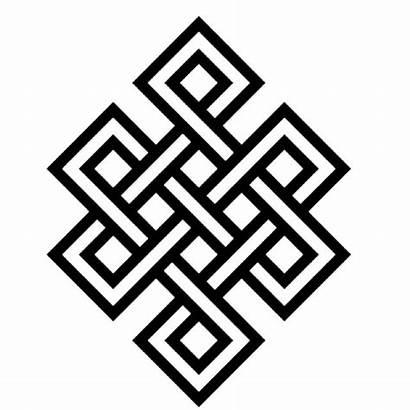 Buddhist Knot Compassion Endless Wisdom Karma Tattoo