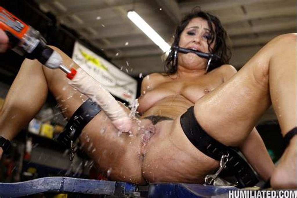 #Brunette #Gets #Her #Pussy #Tortured #And #Machine #Fucked #Then