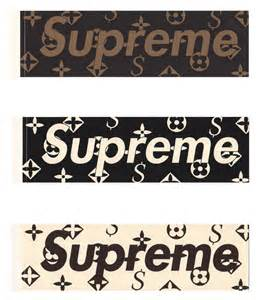 Louis Vuitton X Supreme Sticker