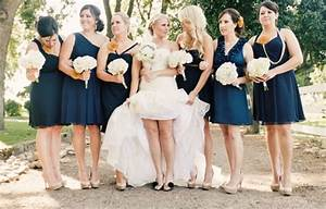 navy blue bridesmaid dress options photos huffpost With what colour shoes with navy dress for wedding