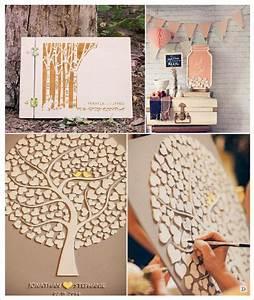 Arbre En Pot : mariage rustique champ tre livre d 39 or en bois arbre en ~ Premium-room.com Idées de Décoration