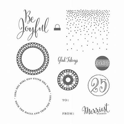 Merriest Wishes Stamp Stampin Merry Mount Clear