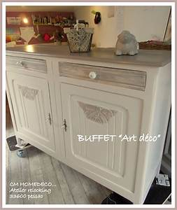 grand buffet art d co en noyer relook tradition campagne chic With transformer un meuble ancien