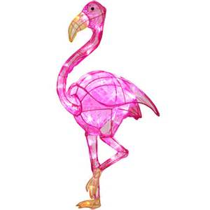 lighted pink flamingo 31 quot lightshow sparkle led ice sculpture pink flamingo my christmas tree