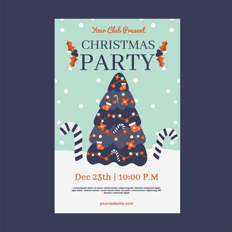 cuter christmas flyer template  tree  snow