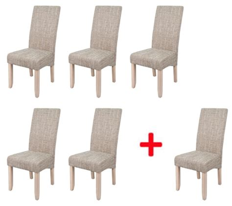 lot de 5 chaises 1 offerte sagua naturel beige
