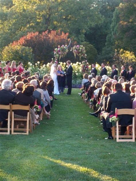 bank of flowers boerner botanical garden wedding