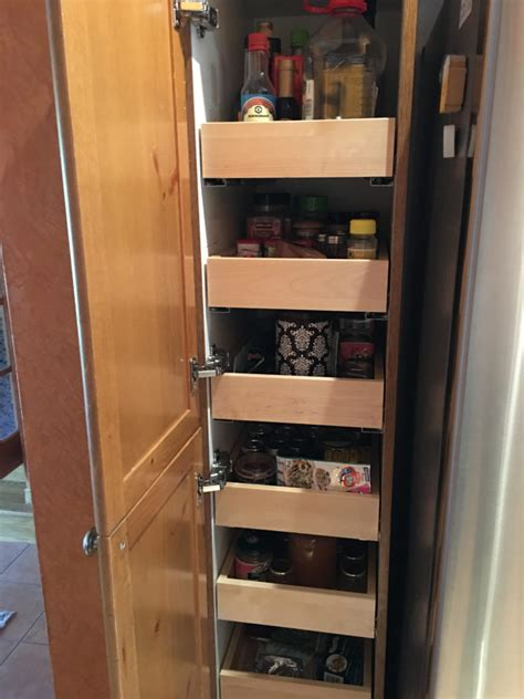 narrow pull out pantry cabinet narrow pantry unit custom slideout shelves