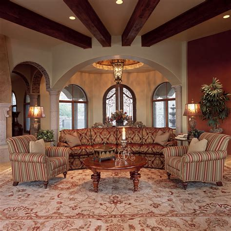 Spanish colonial furniture living room traditional with