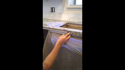 Granite Tile Countertop by How To Make Your Own Granite Tile Countertop Edge Part 1
