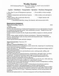 Logistics resume sample download sample resume for Logistics resume samples free