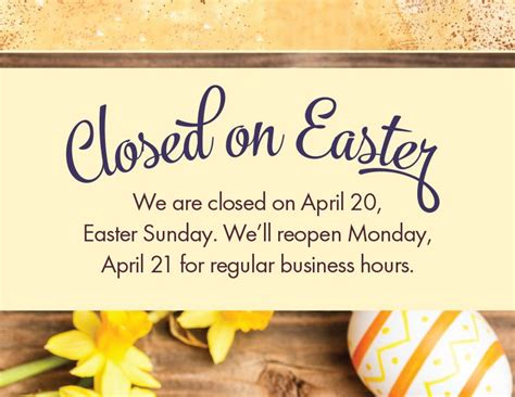 Closed Easter Sunday 2018 Template