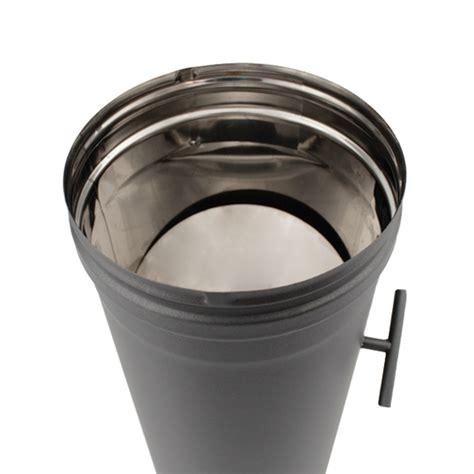 d駻ouleur cuisine inox tuyau 33 cm régulateur de tirage simple paroi noir anthracite ø90 tracheminée