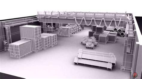 Industrial Warehouse 3d Set Modeling