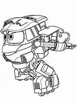 Robot Coloring Trains Pages Train Printable Kay Cartoon Print Fun sketch template