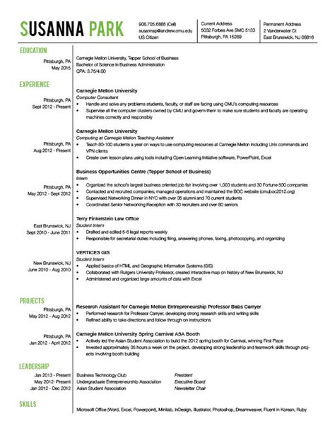 What Font For A Resume by Resume And Business Card Communication Design
